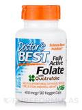 Best Fully Active Folate with Quatrefolic 400 mcg 90 Veggie Capsules