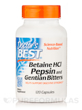 Betaine HCL, Pepsin & Gentian Bitters - 120 Capsules