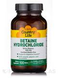 Betaine HCL with Pepsin - 100 Tablets