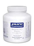 Betaine HCL Pepsin 250 Vegetable Capsules