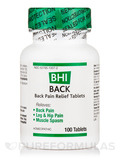 BHI Back Pain Relief Tablets - 100 Tablets
