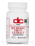 Bilberry Fruit Extract 60 Softgels