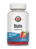 Biotin 5,000 mcg, Strawberry Flavor - 60 Gummies
