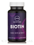 Biotin 5mg High Potency - 60 Vegetarian Capsules