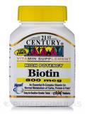 Biotin 800 mcg (Maximum Strength) - 110 Tablets
