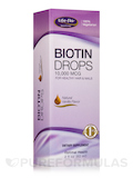 Biotin Drops 10,000 mcg, Natural Vanilla Flavor - 2 fl. oz (60 ml)