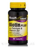 Biotin Plus with Calcium & Vitamin D3 - 60 Tablets