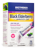 Black Elderberry plus Probiotics & Zinc - 1 Box of 15 Powder Packs