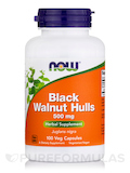 Black Walnut Hulls 500 mg 100 Capsules