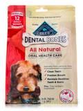 BLUE Dental Bones Regular Size for Dogs 25-50 lbs - 12 Daily Bones (12 oz / 340 Grams)
