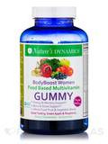 Body Boost Women Whole Food Multivitamin Gummy (Green Apple & Raspberry Flavors) - 60 Gummies