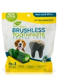 Brushless™ Toothpaste Dental Chew, Small Size 8-20 lbs - 12 oz (340 Grams)