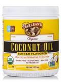 Butter Flavored Organic Coconut Oil - 16 fl. oz (473 ml)