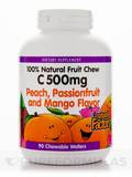 C 500 mg Peach, Passionfruit, Mango Flavor - 90 Chewble Wafers