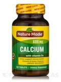 Calcium 600 mg with Vitamin D - 120 Tablets