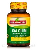 Calcium, Magnesium, Zinc with Vitamin D3 - 100 Tablets