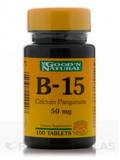 B-15 (Calcium Pangamate 50 mg) 100 Tablets
