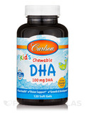Carlson for Kids Chewable DHA Bursting Orange Flavor 120 Soft Gels