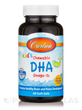 Carlson for Kids Chewable DHA Bursting Orange Flavor 60 Soft Gels