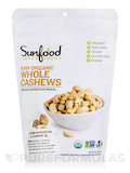 Whole Cashews, Raw Organic - 8 oz (227 Grams)
