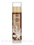 Certified Organic Coconut Oil Infused Lip Balm, Coconut - 1 Tube (0.15 oz / 4.25 Grams)