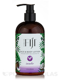 Face & Body Lotion - Infused with Raw Coconut Oil - Lavender - 12 oz (354 ml)
