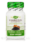 Charcoal Activated 280 mg 100 Capsules
