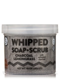 Charcoal Lemongrass Whipped Soap + Scrub - 10 oz (283.5 Grams)