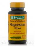 Natural Chelated Magnesium 30 mg 100 Tablets