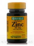 Chelated Zinc 25 mg (Zinc Gluconate) - 100 Tablets
