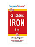 Children's Iron 5 mg - 100 MicroLingual® Tablets
