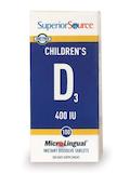 Children's Vitamin D 400 IU - 100 MicroLingual® Tablets