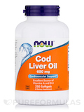 Cod Liver Oil 650 mg 250 Softgels