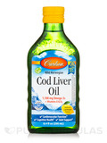 Wild Norwegian Cod Liver Oil 1100 mg, Natural Lemon Flavor - 8.4 fl. oz (250 ml)