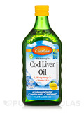 Cod Liver Oil 1,100 mg, Natural Lemon Flavor - 16.9 fl. oz (500 ml)