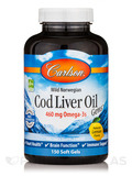 Norwegian Cod Liver Oil Lightly Lemon Flavor 1000 mg 150 Soft Gels