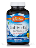 Cod Liver Oil Gems (Low Vit A) Lemon Flavor - 150 Soft Gels