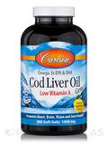 Cod Liver Oil Gems (Low Vit A) Lemon Flavor 1000 mg - 300 Soft Gels