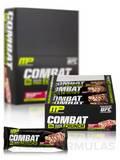 Combat Crunch Bars - White Chocolate Raspberry Flavor - Box of 12 Bars (2.22 oz / 63 Grams each)