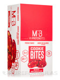 Cookie Bites Red Velvet White Chocolate Chip - 8 - 2.5 oz (72 Grams) 3 Pack Cookies