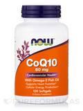 CoQ10 60 mg with Omega 3 Fish Oils - 120 Softgels