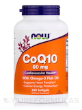 CoQ10 60 mg with Omega 3 Fish Oils 240 Softgels