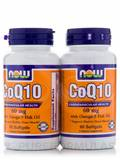 CoQ10 60 mg with Omega 3 Fish Oils Twin Pack 2/60 Softgels