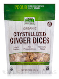 NOW Real Food® - Crystallized Ginger Dices w/o Sulfur - 16 oz (454 Grams)