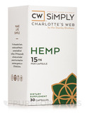 CBD Capsules (15 mg Hemp Extract), Full Strength - 30 Capsules