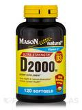 D 2000 IU (Vitamin D3), Ultra Strength - 120 Softgels