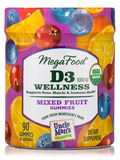D3 1000 IU Wellness Mixed Fruit Gummies - 90 Gummies