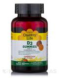 D3 Gummies 1000 IU, Strawberry & Orange Flavors - 60 Gummies