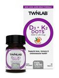 D3 + K2 Dots 1000 IU (25 mcg), Natural Tangerine Flavor - 60 Tablets