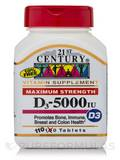 D3-5000 IU (Maximum Strength) - 110 Tablets